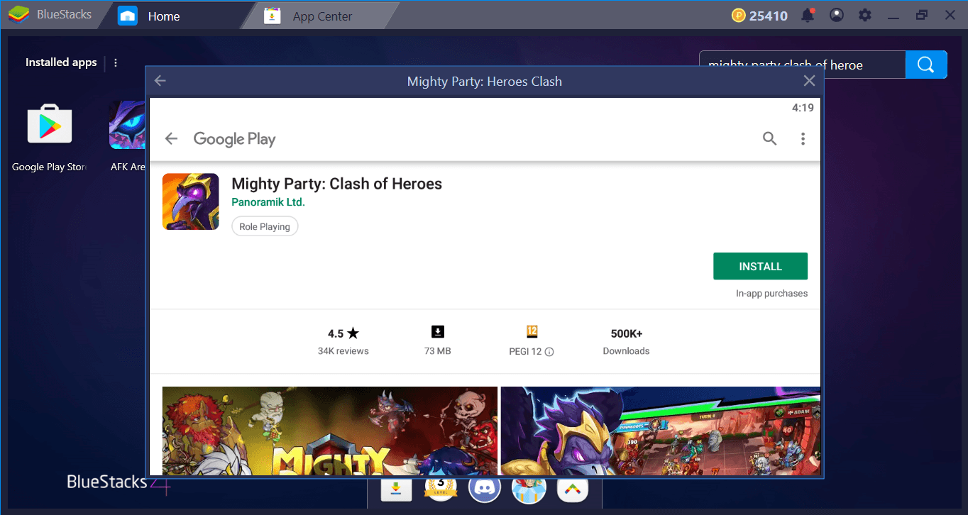 Collect All Heroes In Mighty Party On BlueStacks: The Setup