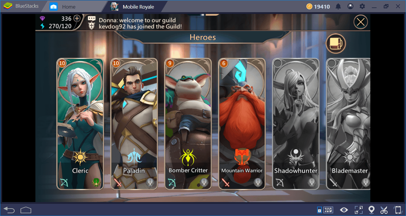Mobile Royale Heroes Guide: Summoning and Leveling | BlueStacks 4
