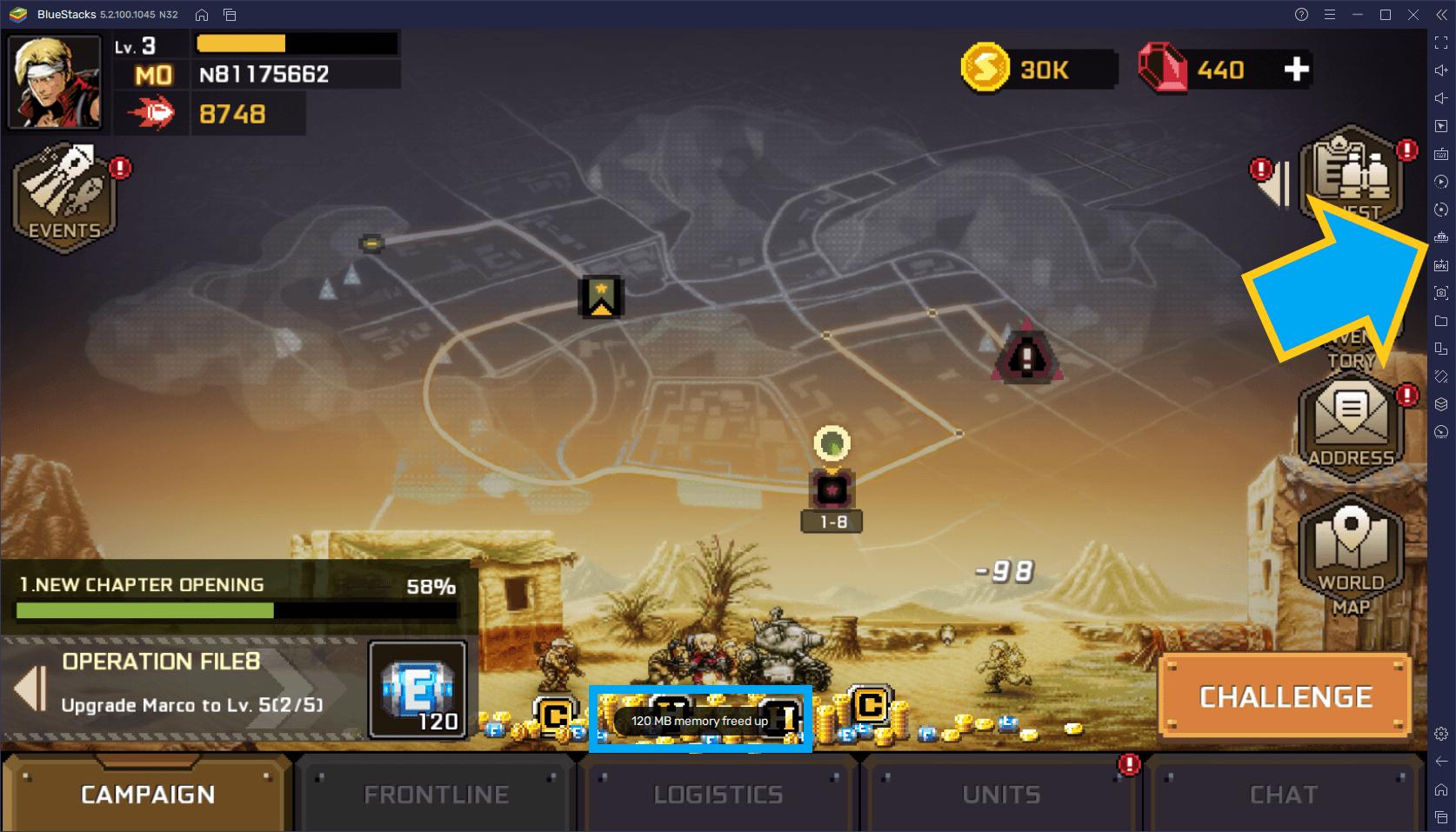 Metal Slug: Commander – Comment Utiliser les Outils de BlueStacks pour Mieux Jouer au Jeu