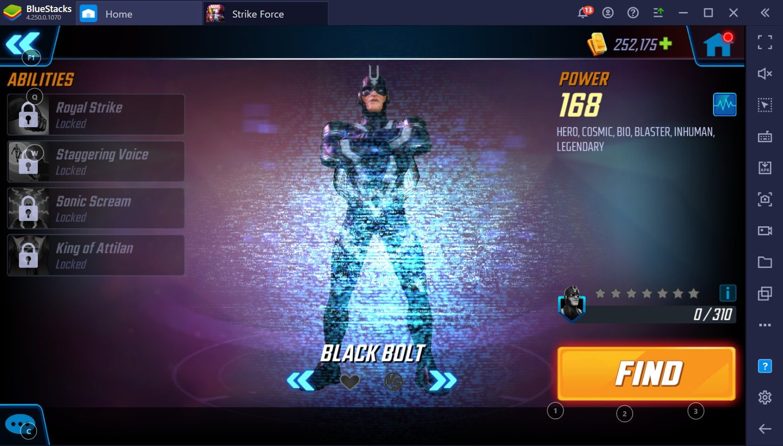 Black Bolt: The Most Powerful Character in MARVEL Strike Force?
