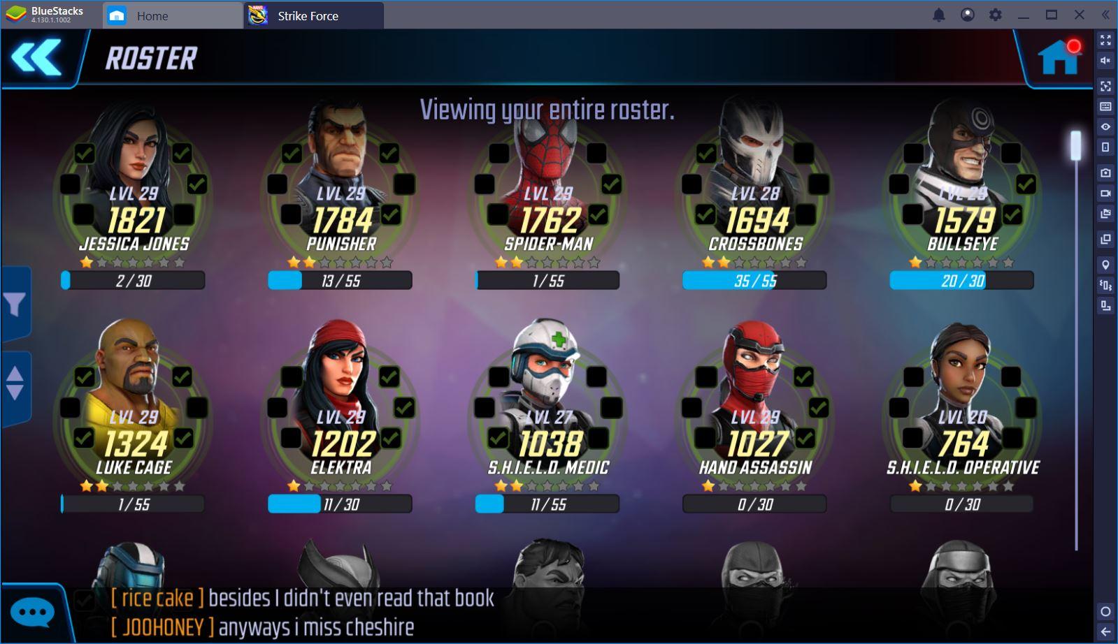 العب MARVEL Strike Force على الكمبيوتر باستخدام BlueStacks