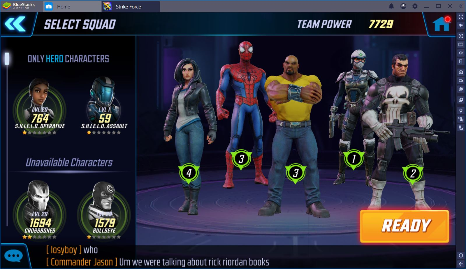Play Marvel Strike Force on PC with BlueStacks