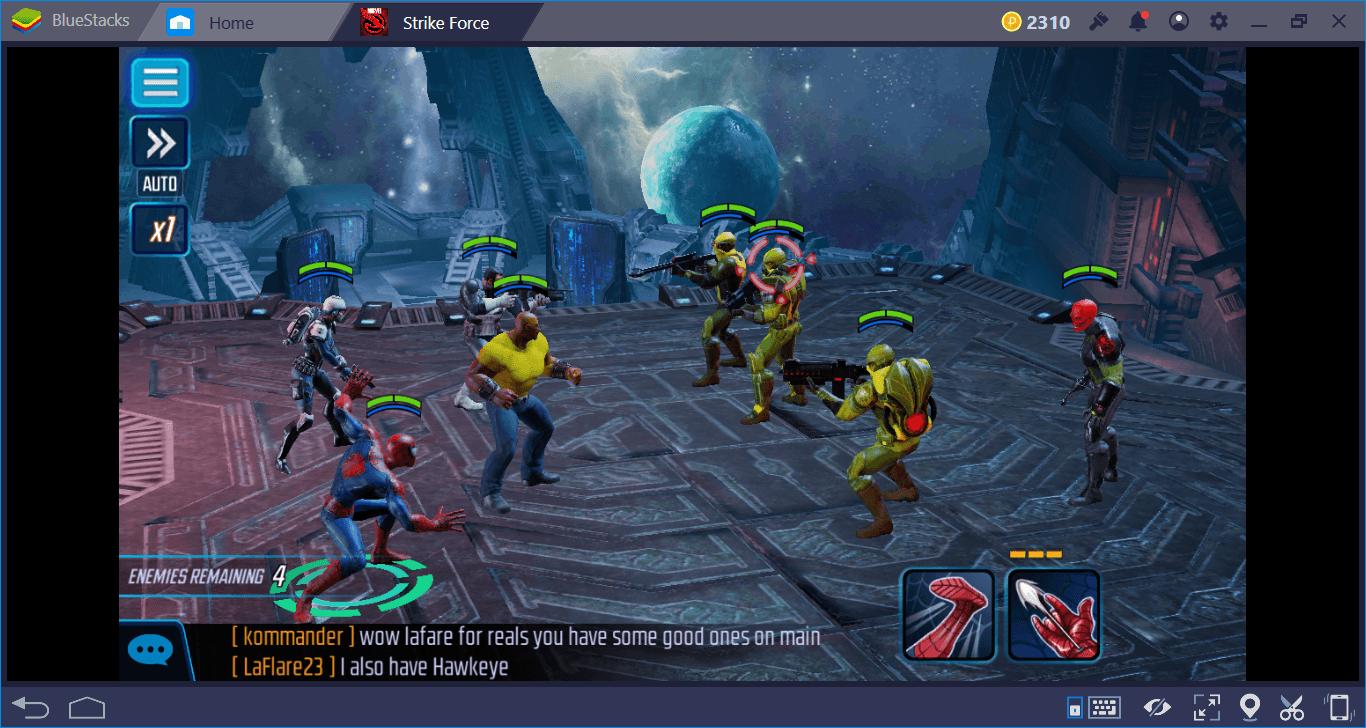 MARVEL Strike Force على الكمبيوتر الشخصي: بناء الفريق المثالي