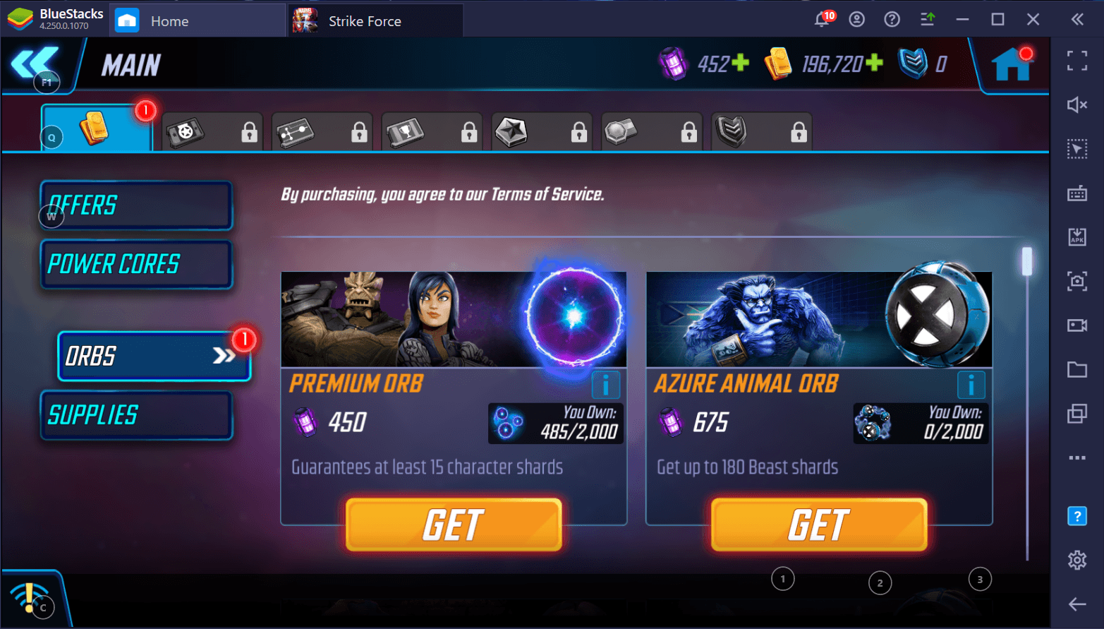 Managing Orbs: The BlueStacks Guide to Orb Management in MARVEL Strike Force