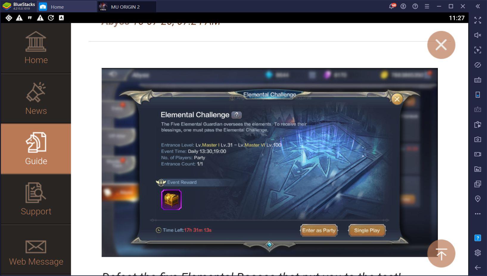 MU ORIGIN 2 Elemental Update – New Elemental Combat and Pet Upgrade Systems