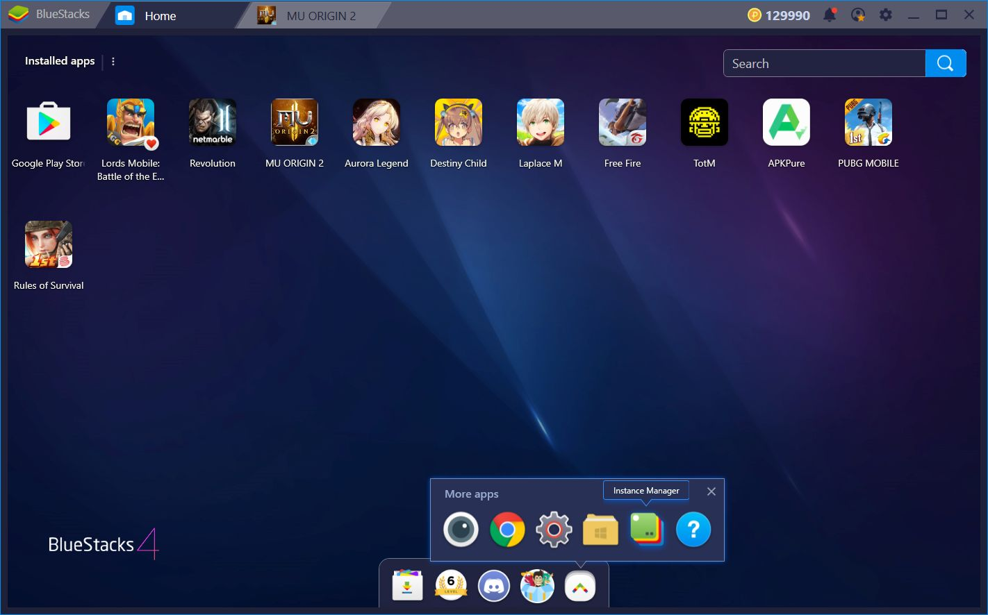 BlueStacks Usage Guide for MU Origin 2