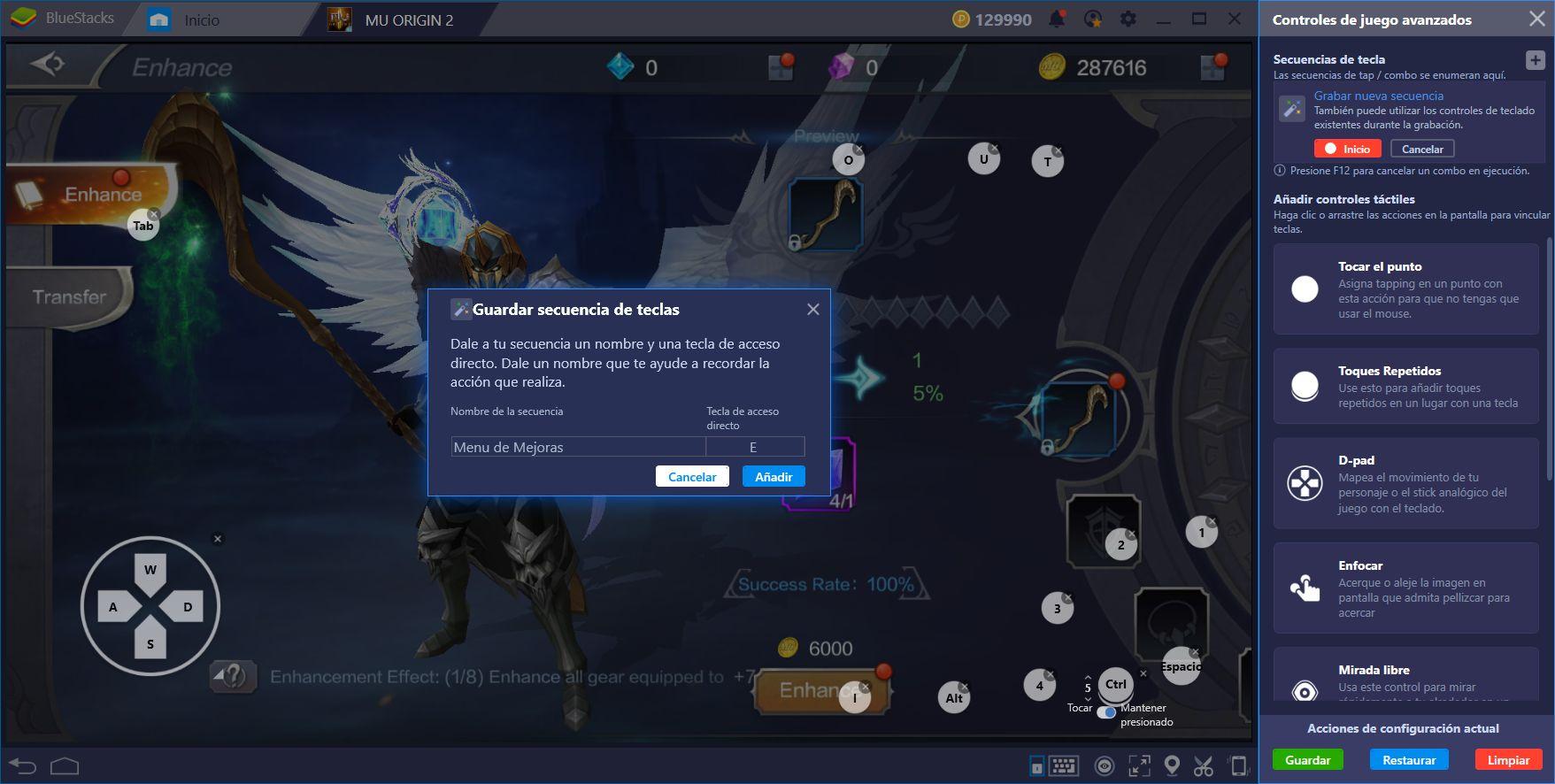 Guía de Uso de BlueStacks Para MU Origin 2
