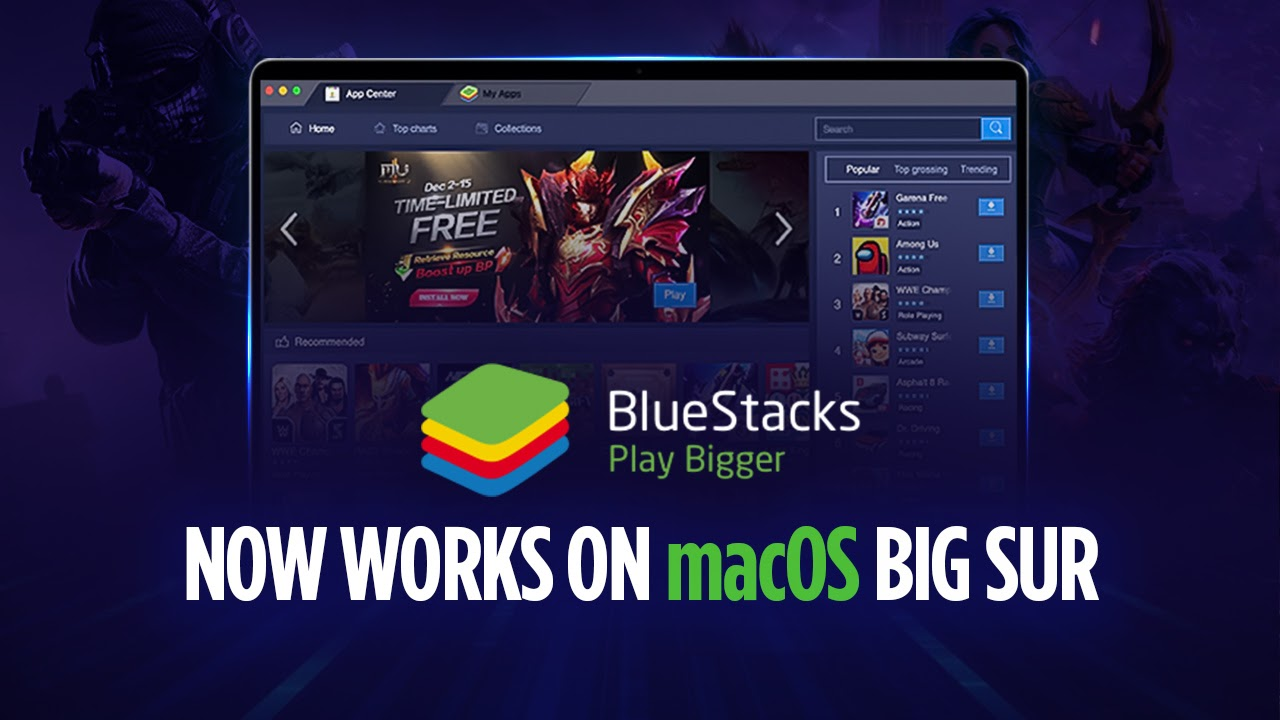 BlueStacks версии 4.240.5 теперь совместим с macOS 11 Big Sur!