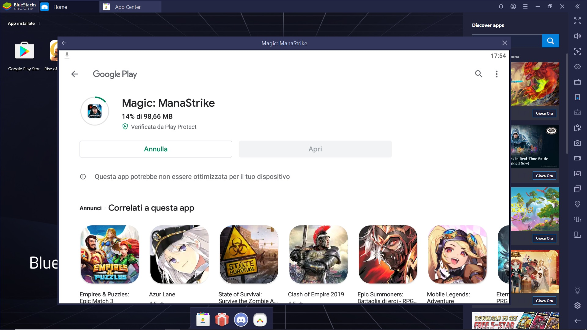 Gioca Magic: ManaStrike con Bluestacks