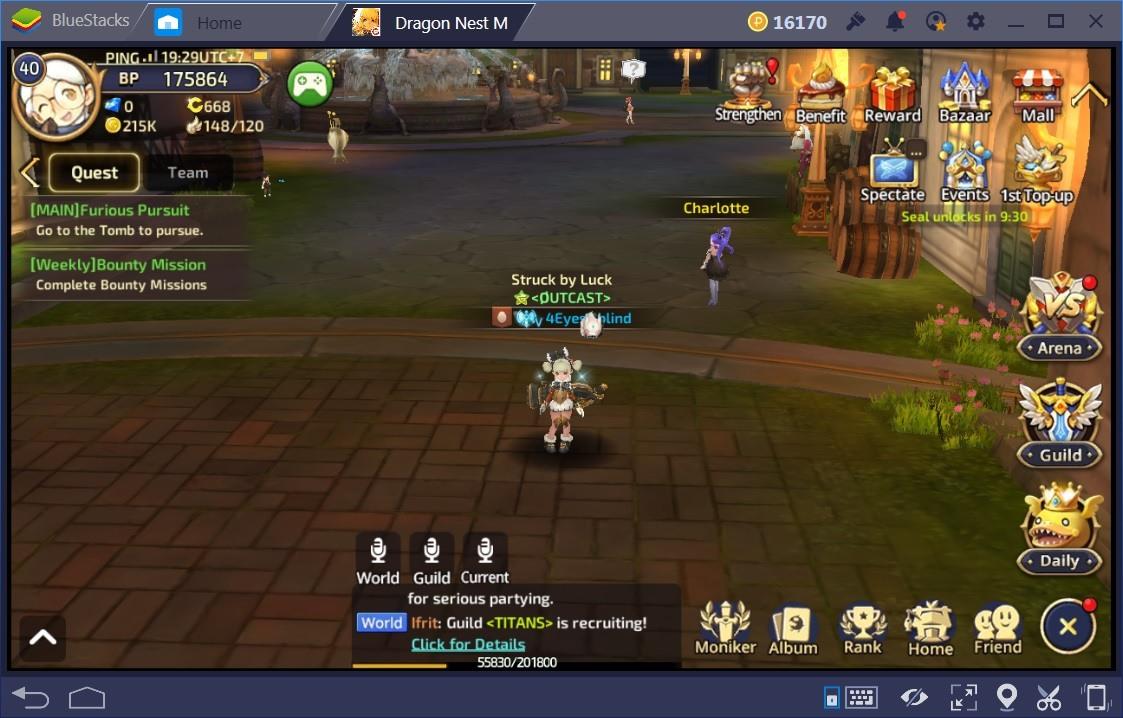 Dragon Nest M Start and Leveling Guide | BlueStacks