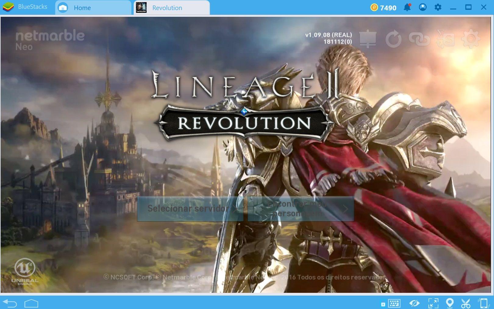 Deixe seu desempenho em Lineage II Revolution mais interessante com o Combo Key de BlueStacks.