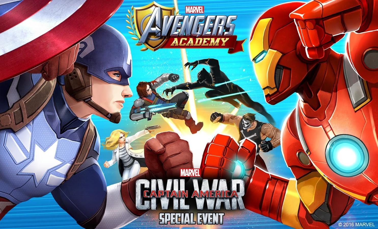 Marvel Avengers Academy Civil War Special Event
