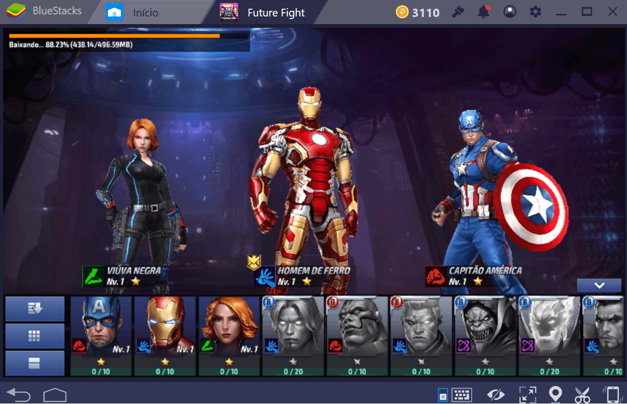 Como montar seu time em MARVEL Future Fight