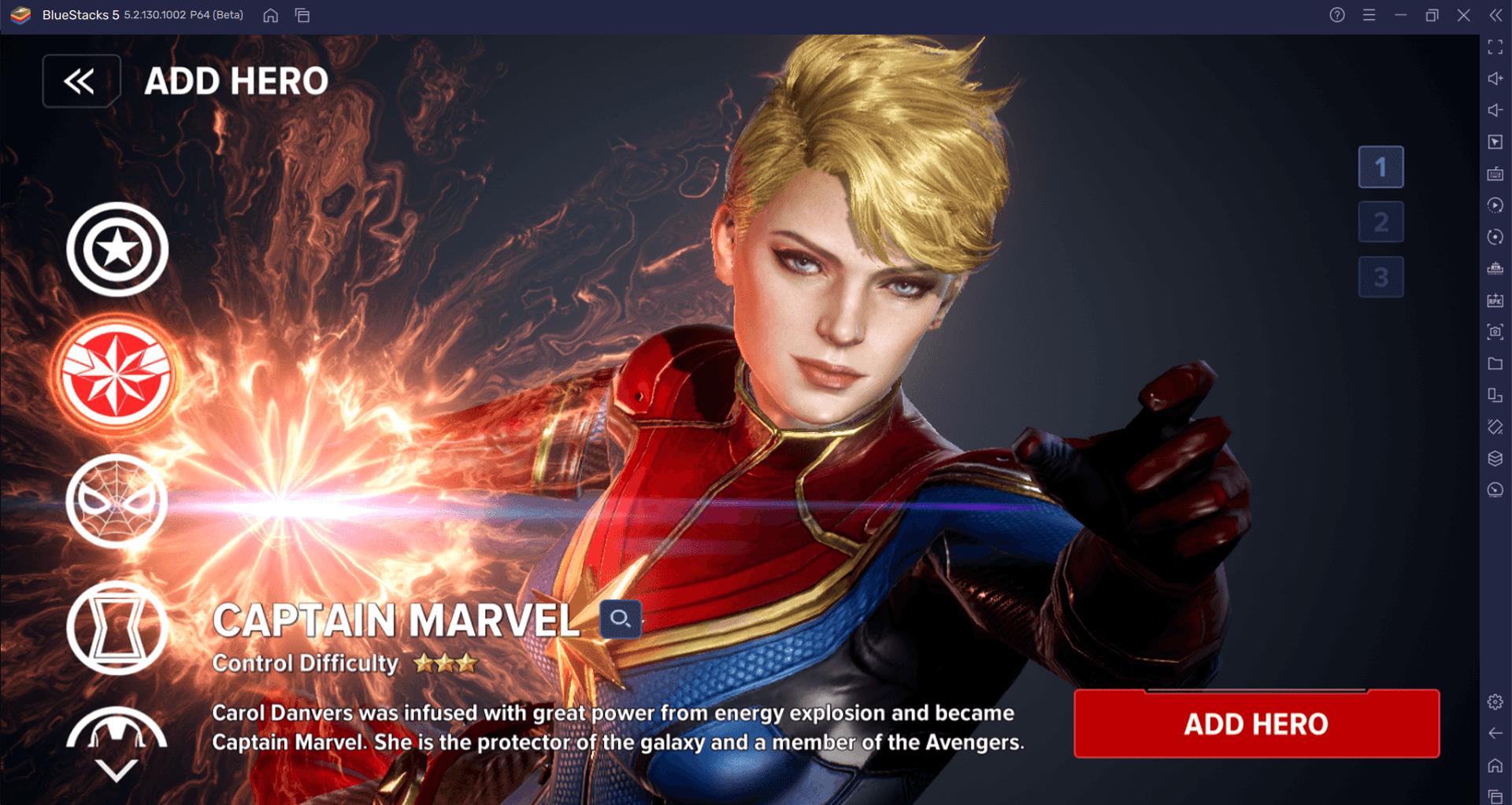 MARVEL Future Revolution – wybór bohatera
