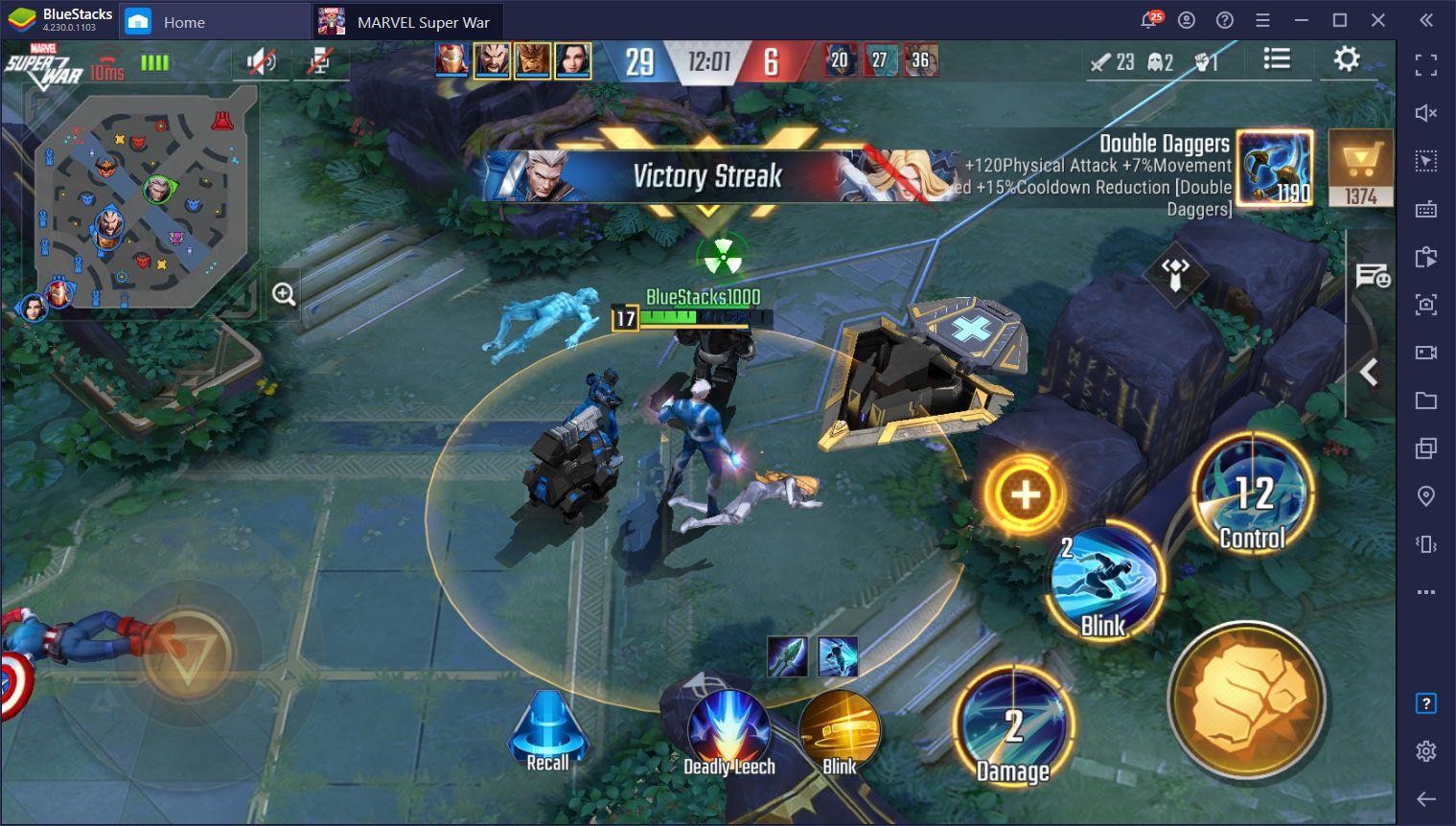 Marvel Super War – Tipps und Tricks für Laning und Kampf