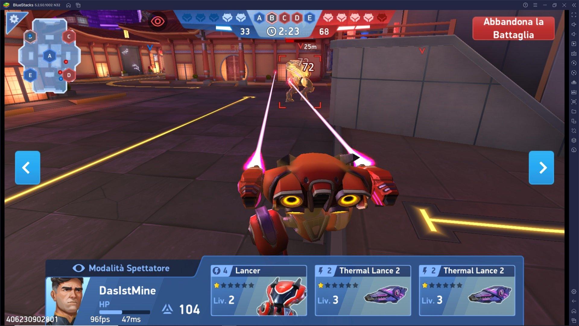 Panoramica sulle Armi di Mech Arena: Robot Showdown