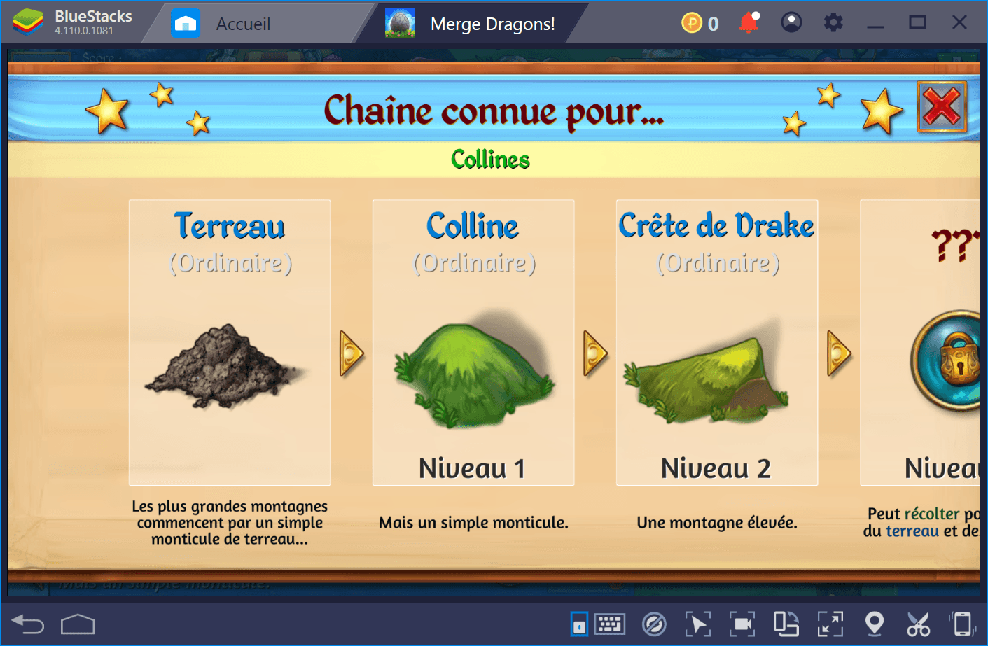 Les types de ressources dans Merge Dragons