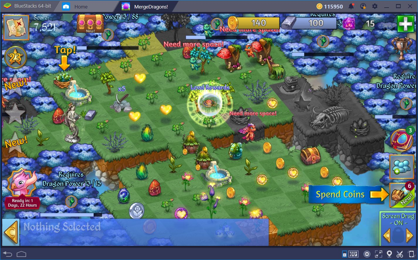Merge Dragons! on BlueStacks—Improve your Gameplay with our Platform
