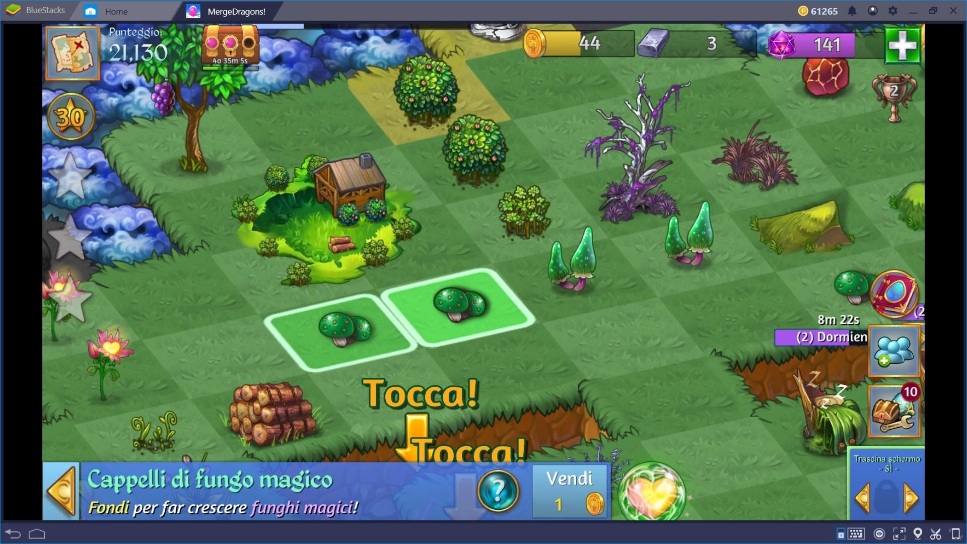 Fondere e Combinare gli oggetti in Merge Dragons!