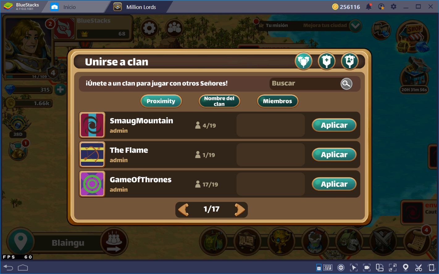 Guía de Principiantes para Million Lords en BlueStacks