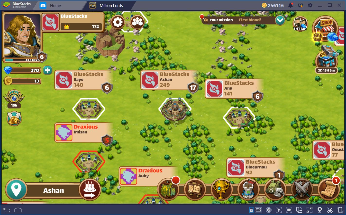 Conquering the Realm in Million Lords with BlueStacks