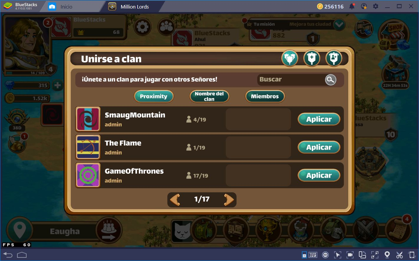 Conquistando el Reino en Million Lords con BlueStacks