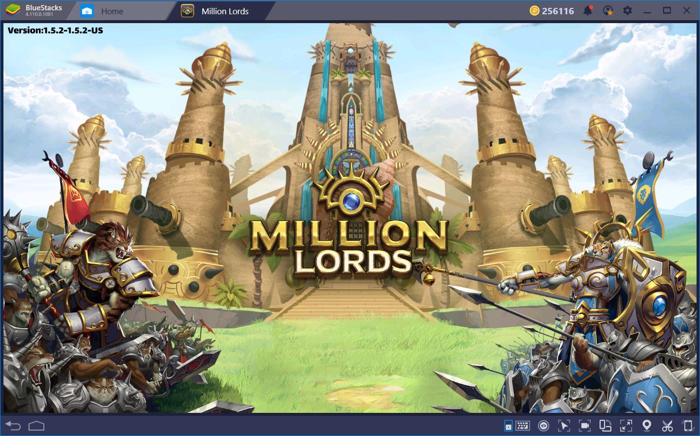 Million Lords on BlueStacks: Mobile Strategy, Abridged