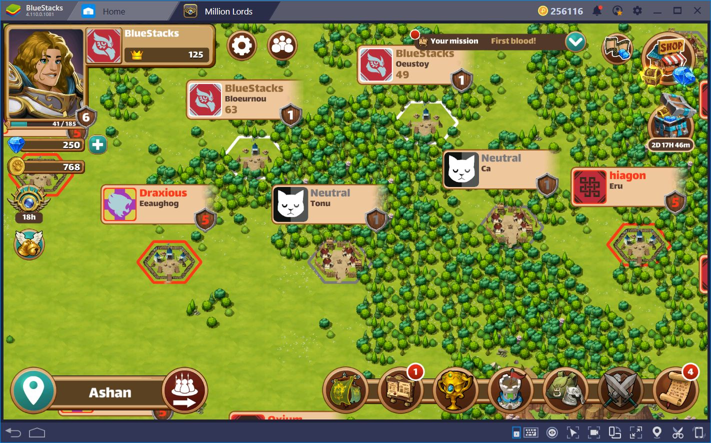 Million Lords on BlueStacks: Mobile Strategy, Abridged