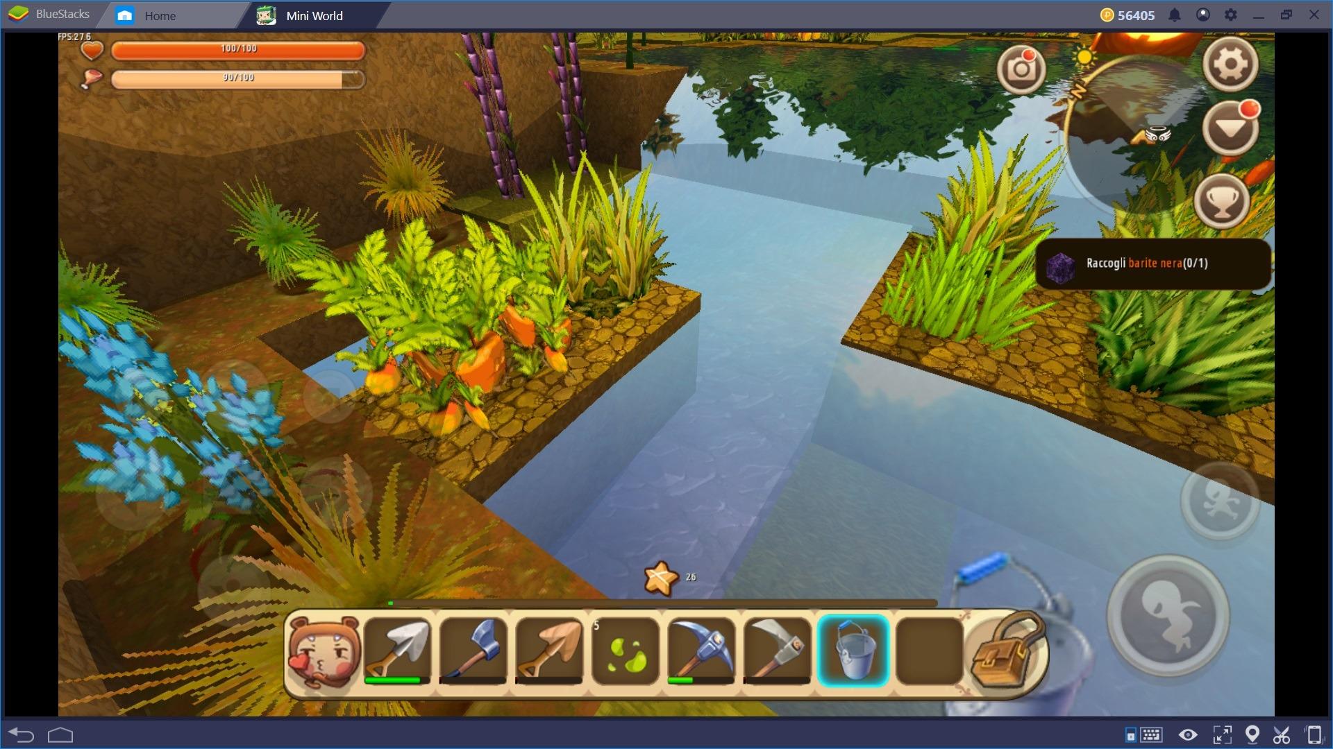 Come costruire un'ottima fattoria in Mini World: Block Art