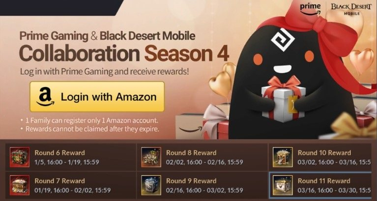 Black Desert Mobile announces fan art event, Amazon Prime Gaming Round 11