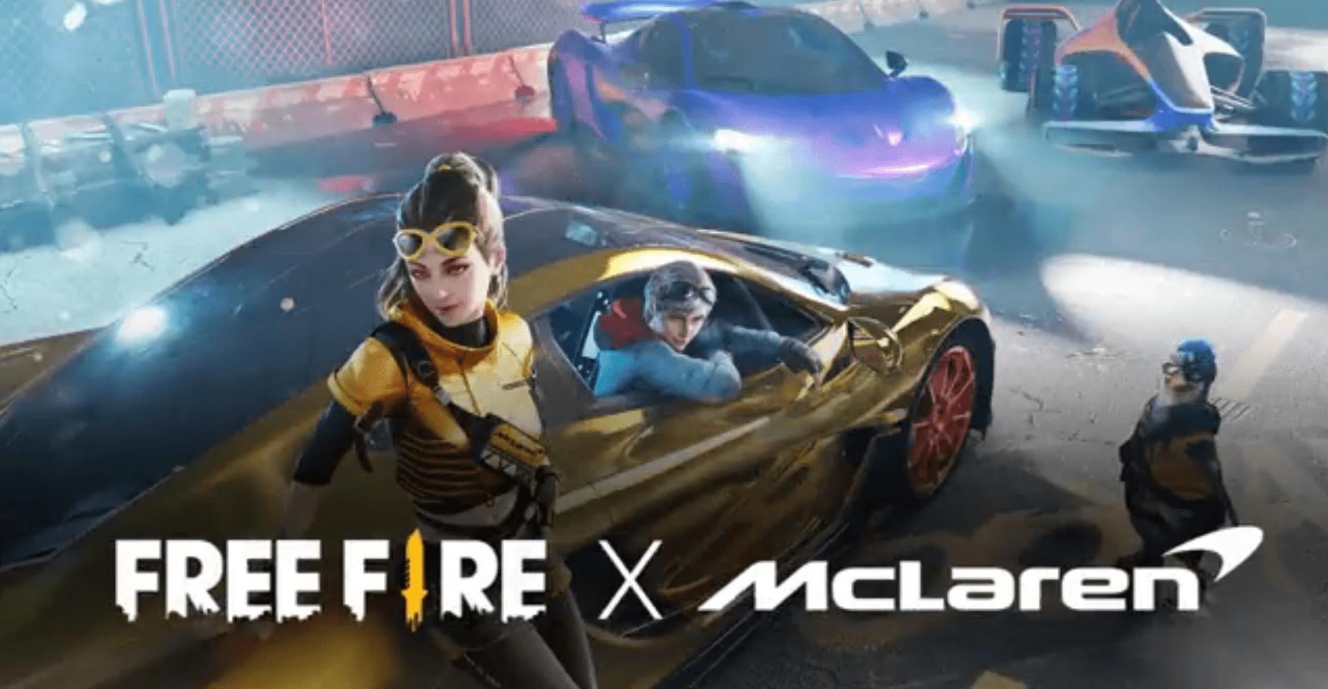 تطلق  لعبة Free Fire مركبة MCLFF المستقبلية كجزء من تعاون McLaren