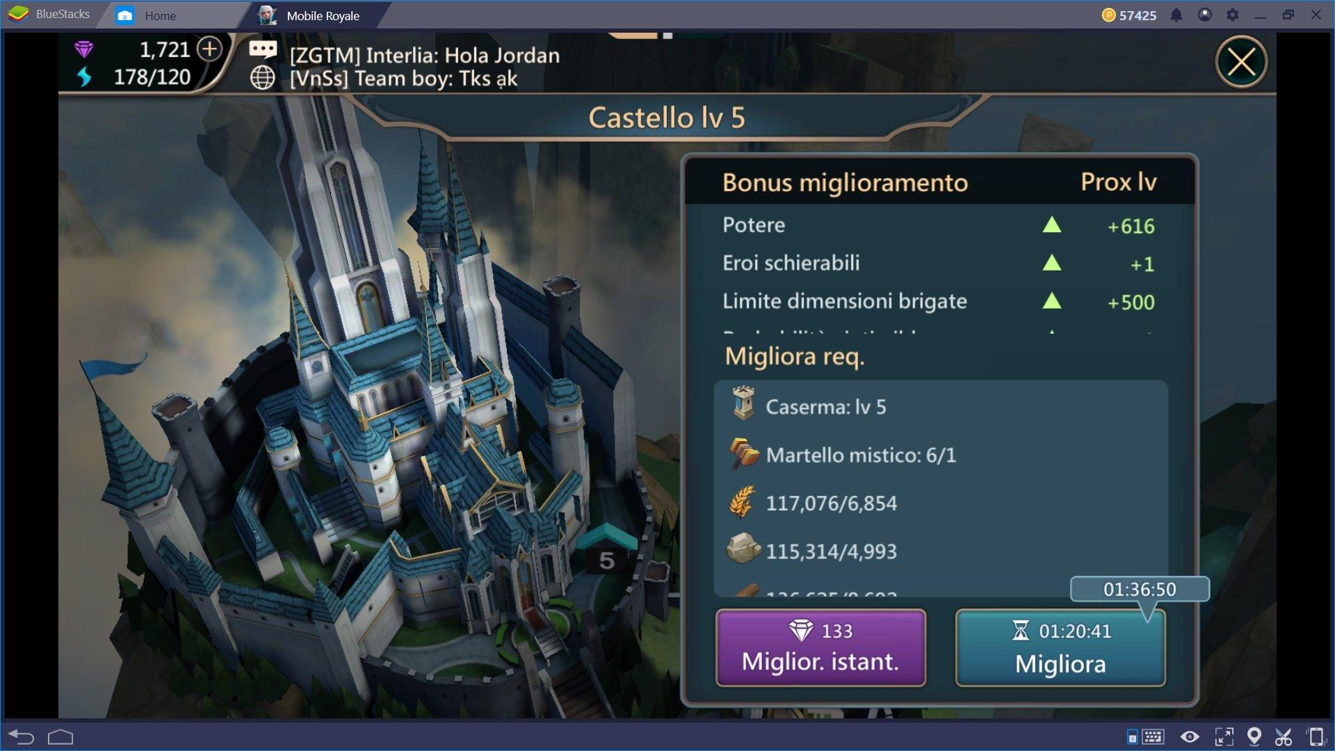 Come sviluppare una potente Città in Mobile Royale