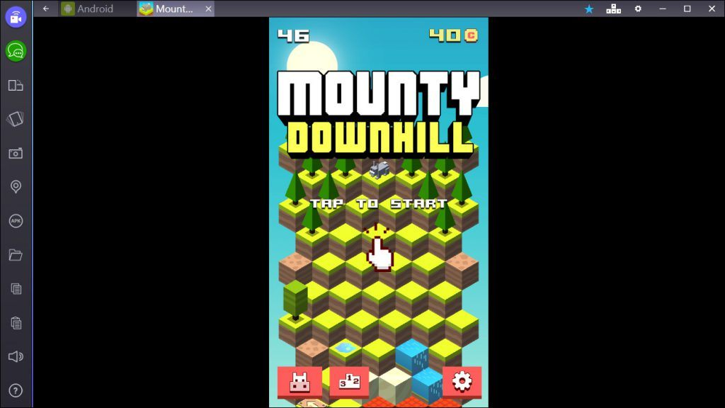 Mounty Downhill on BlueStacks