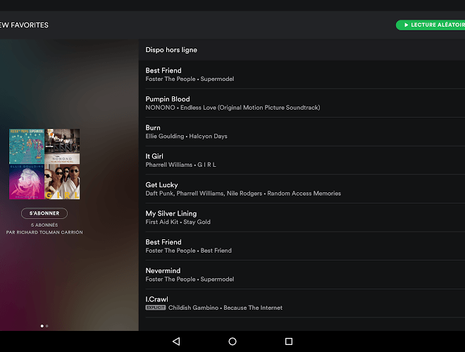Joue Spotify android app on pc 8
