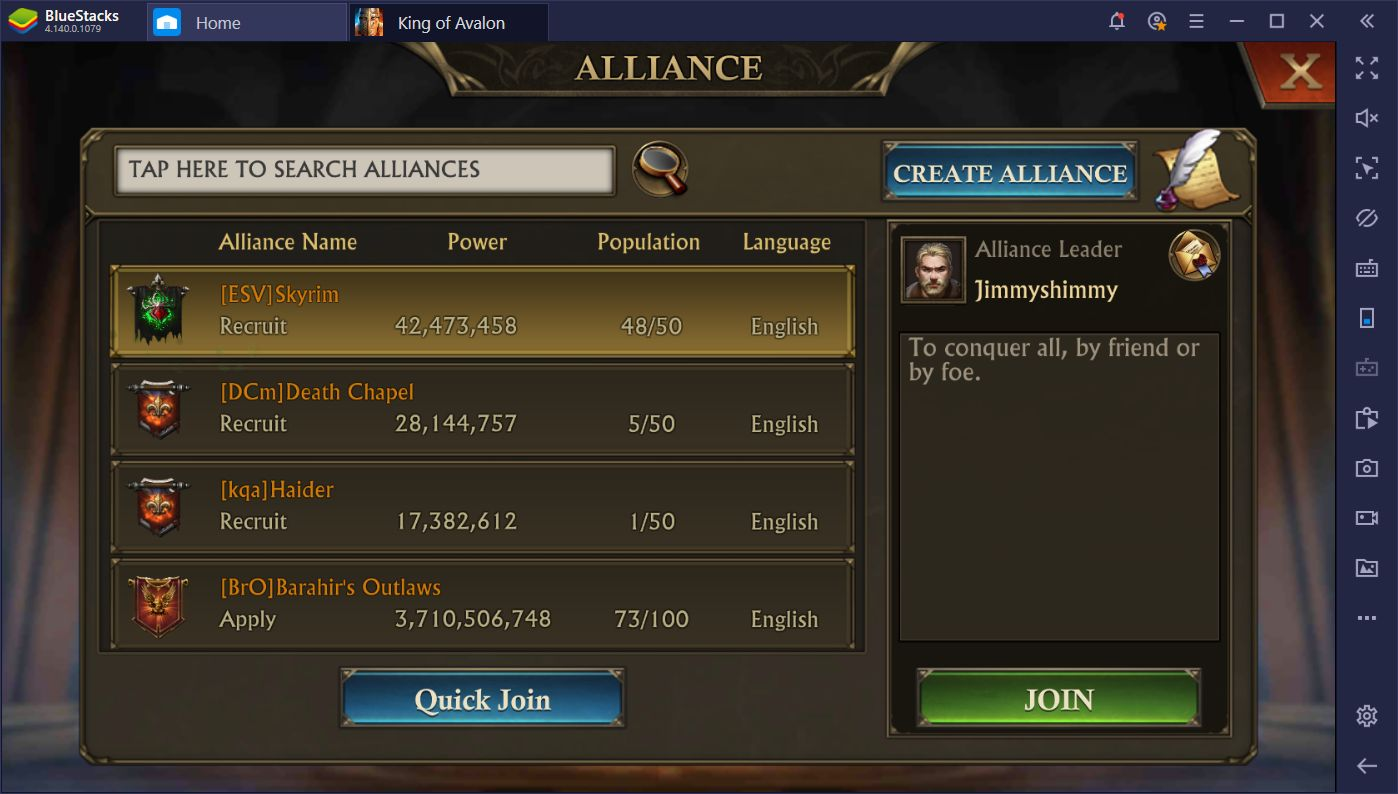 Creating an Empire in King of Avalon With BlueStacks Instances