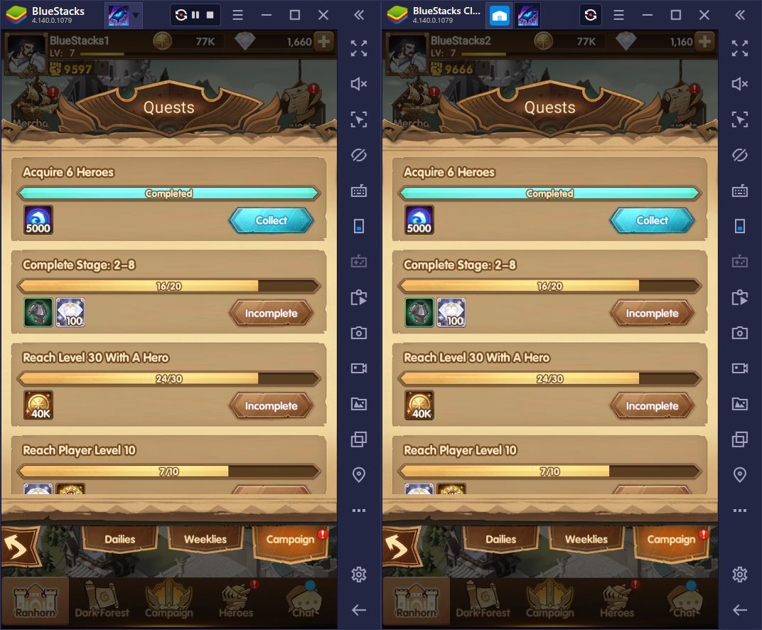 BlueStacks Multi-Instance Features for AFK Arena