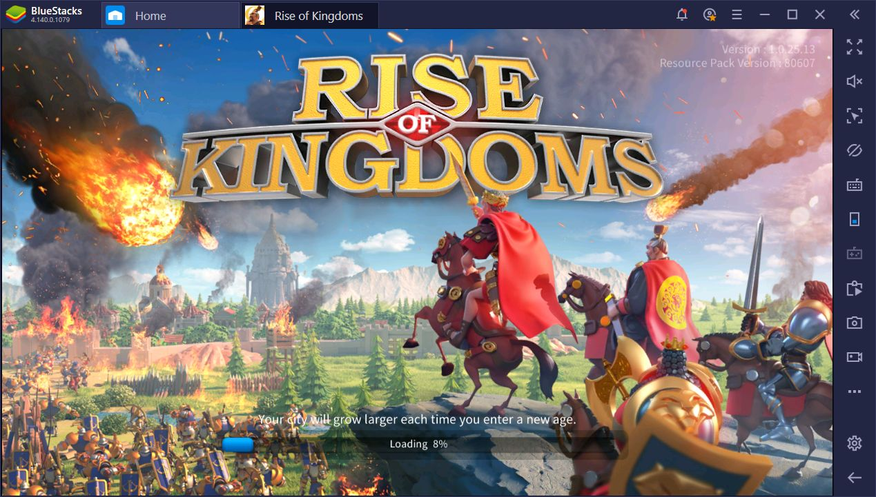 Rise of Kingdoms on BlueStacks: Using the Instance Manager
