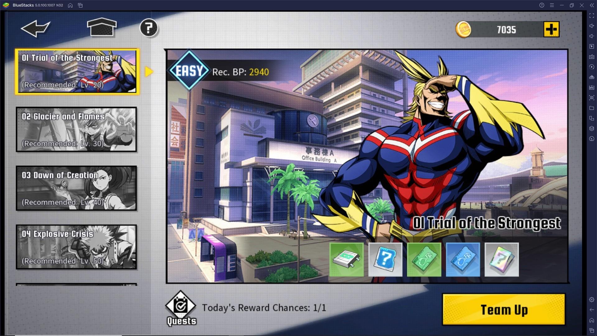 Aumenta velocemente il livello dell'Agency in My Hero Academia: The Strongest Hero