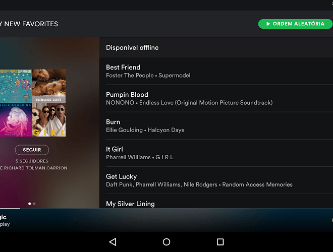 Jogue Spotify android app para PC 11
