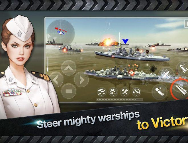 Chơi Warship Battle World War II on pc 6
