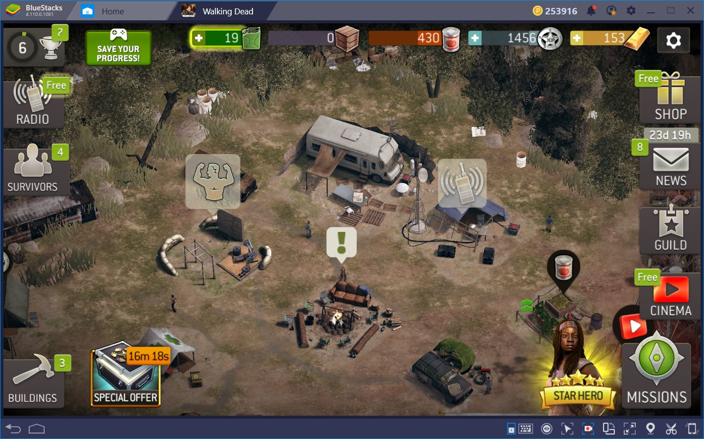Improving in The Walking Dead No Man's Land With BlueStacks