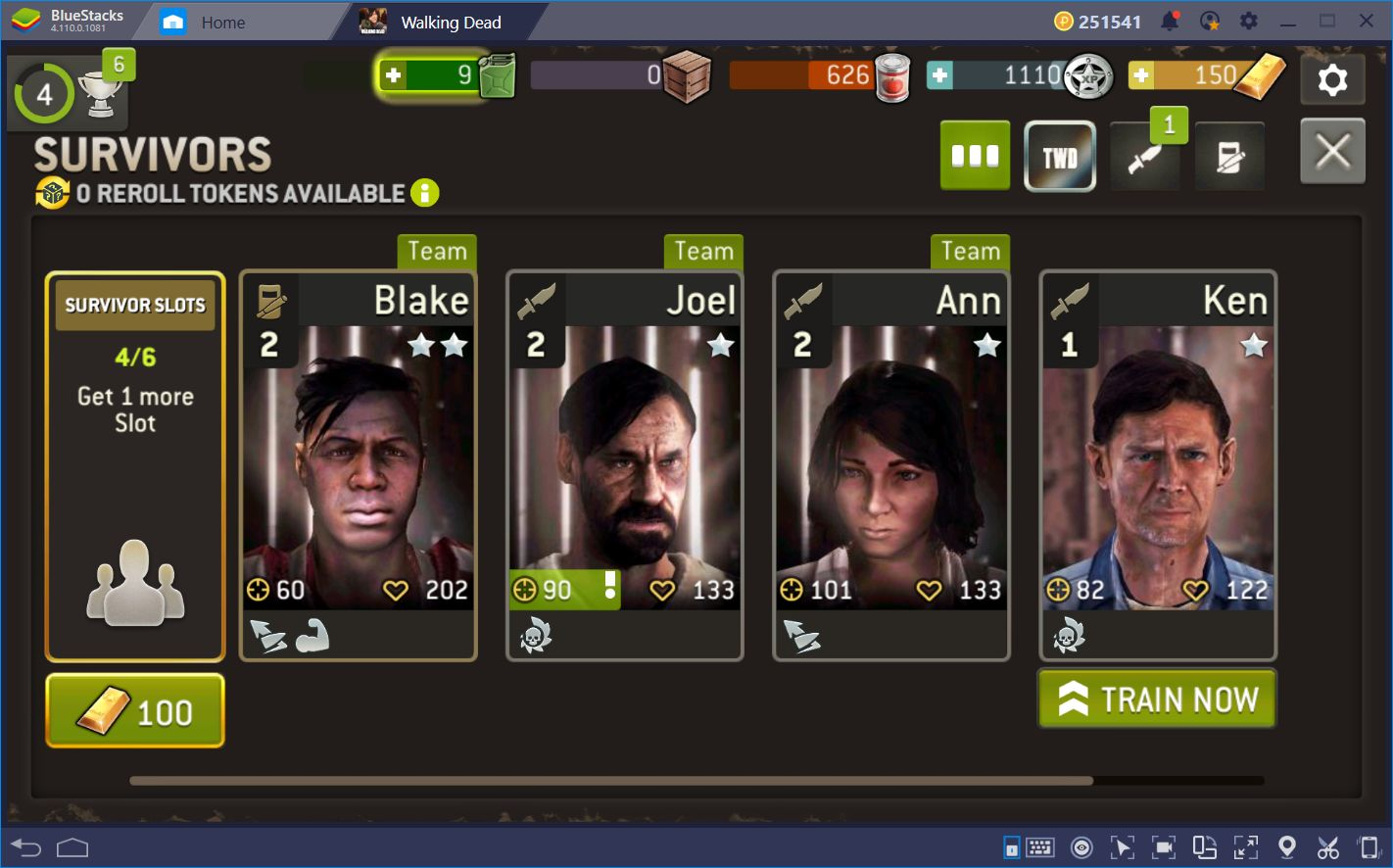 Enjoy The Walking Dead No Man's Land on BlueStacks