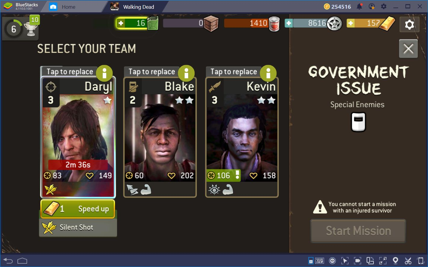 The Walking Dead: No Man's Land—Team Prep and Walker Slaying