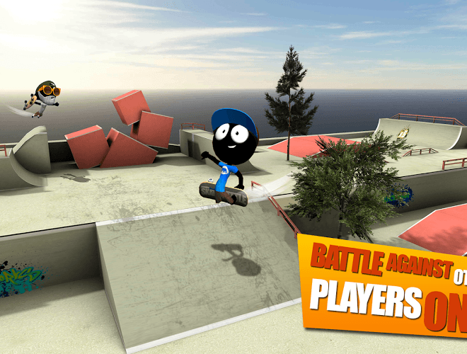 Play Stickman Skate Battle on PC 8