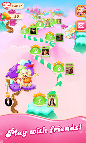 เล่น Candy Crush Jelly Saga on PC 6