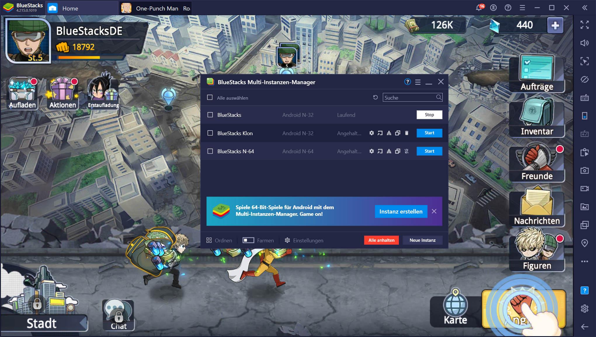 One Punch Man: Road to Hero 2.0 – So installierst und spielst du es auf deinem PC mit BlueStacks