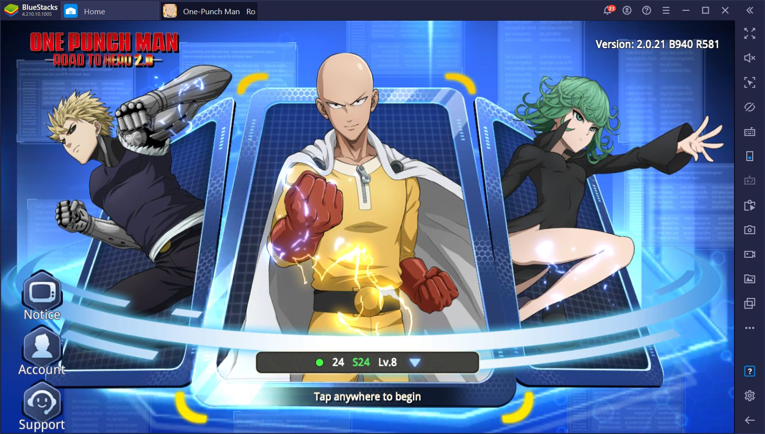 How to Install and Play One Punch Man: Road to Hero 2.0 on PC With BlueStacks