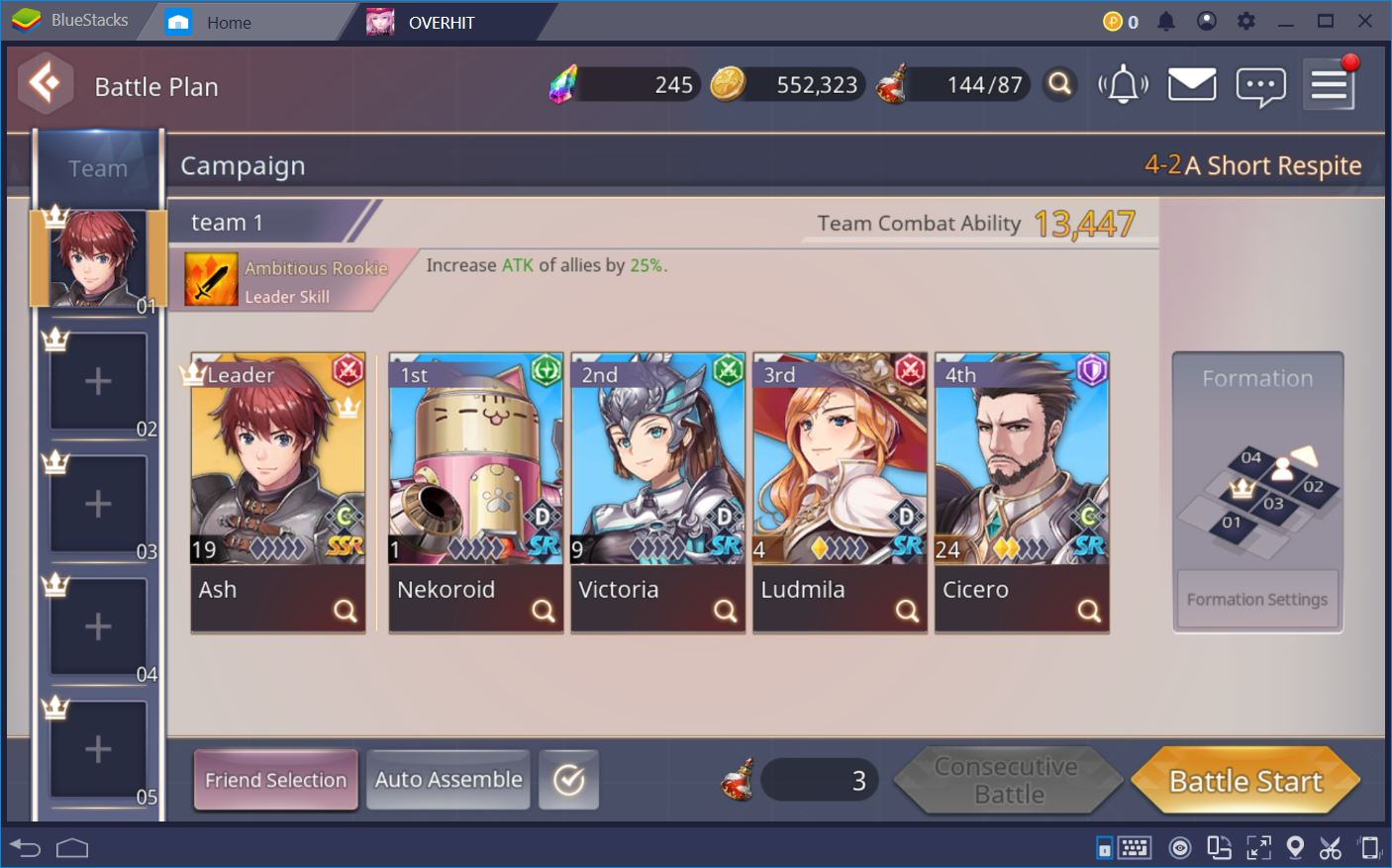 Overhit: The Best Free Team to Blast through All Stages | BlueStacks
