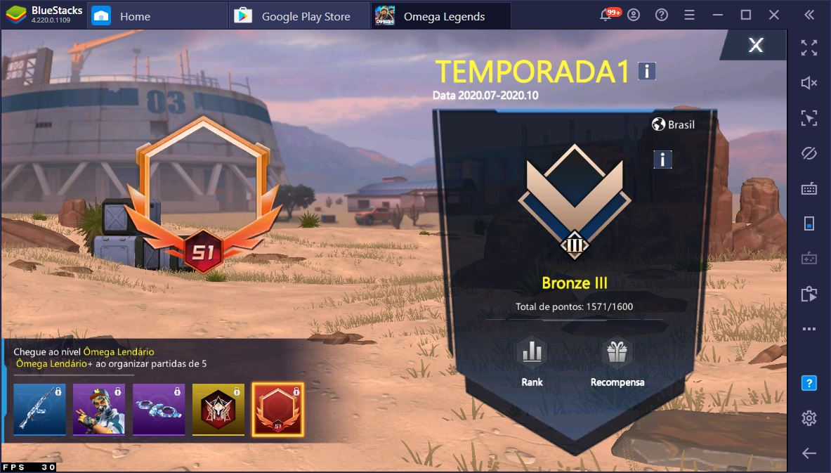 Baixe o battle royale Omega Legends e jogue no PC usando o BlueStacks
