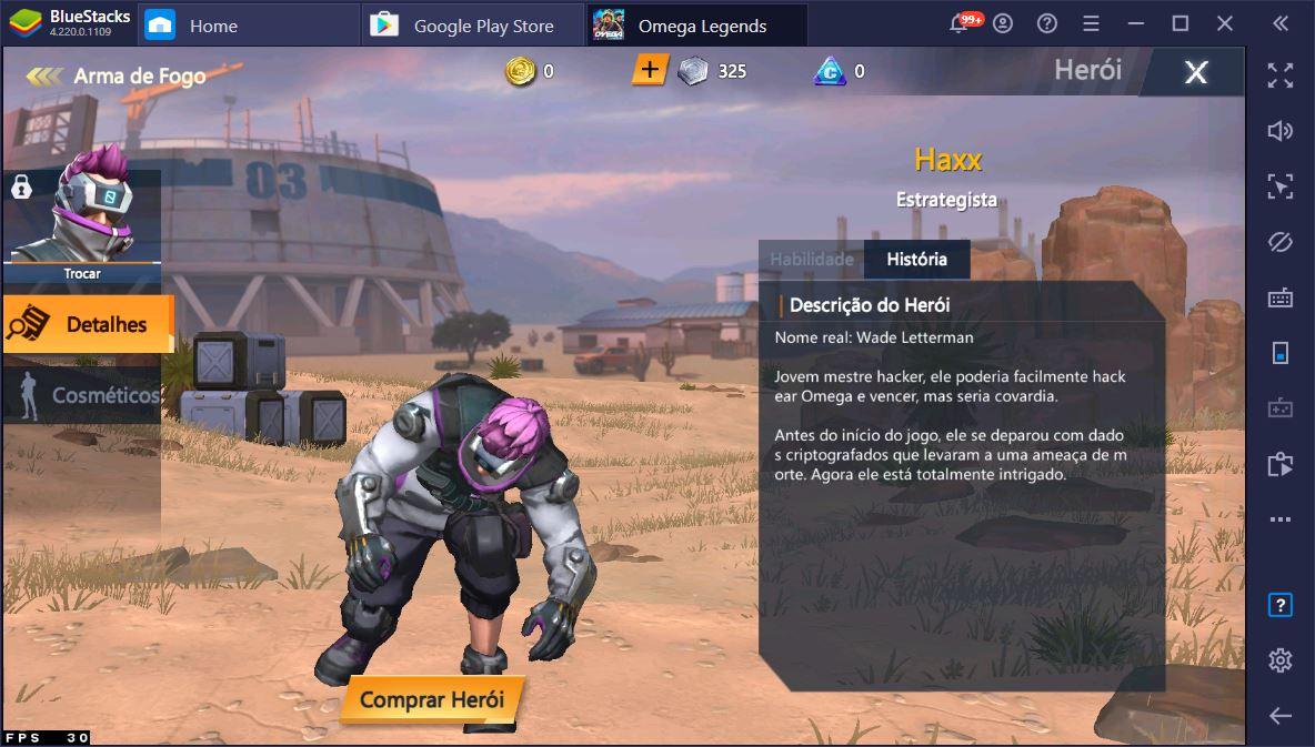 Tudo o que você precisa saber sobre os Personagens do Omega Legends – Habilidades, vantagens e desvantagens